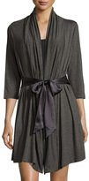Fleurt Fleur't Take Me Away Inset-Back Robe, Dark Charcoal