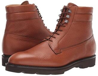 John Lobb Alder Pebble Grain Leather Boot w/ Walking Sole (Tan) Men's Shoes