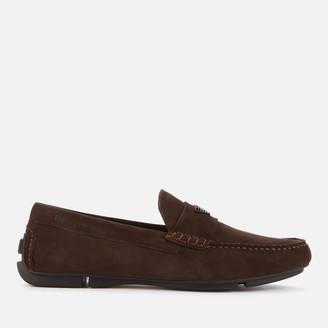 Emporio Armani Men's Suede Driving Shoes