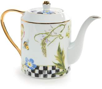 Mackenzie Childs Thistle & Bee Teapot