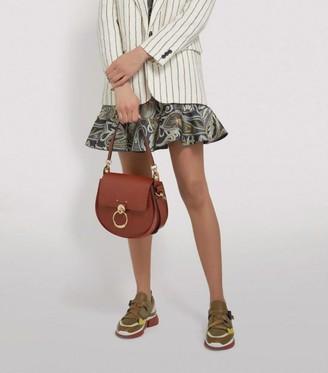 Chloé Large Leather Tess Saddle Bag
