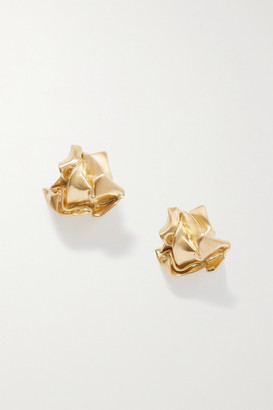 COMPLETEDWORKS Scrunch Gold-plated Earrings - one size