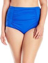 LaBlanca La Blanca Women's Plus-Size Island Goddess Solid Ultra High-Rise Bikini Bottom