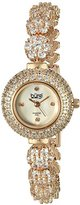 Burgi Women's BUR139RG Crystal Encrusted Diamond Accented Mother-of-Pearl Rose Gold Bracelet Watch