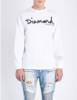 Diamond Supply Co. Script-print cotton-jersey top