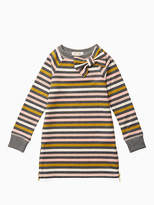 Kate Spade Girls metallic stripe dress