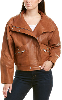 Bagatelle Leather Dolman Jacket