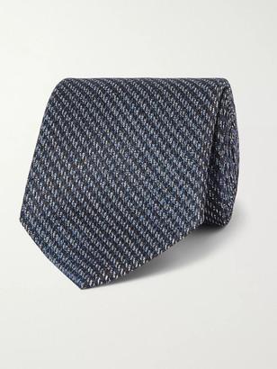 Ermenegildo Zegna 8cm Puppytooth Silk-Jacquard Tie
