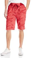 Southpole Men's Jogger Shorts In French Terry with All Over Plantation Patterns