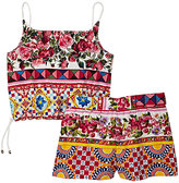"Dolce & Gabbana Mambo""-Print Cotton Poplin Top & Shorts Set"