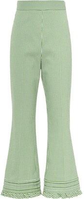 Miu Miu Flared Gingham Trousers