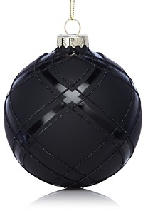 Bloomingdale's Glass Black Ball Ornament - 100% Exclusive