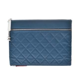 Chanel Blue Leather Clutch bags