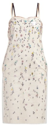 No.21 No. 21 - Pvc-layer Crystal-embellished Cotton Dress - Multi
