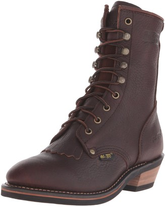 AdTec Women's 8 Inch Packer Chestnut Work Boot
