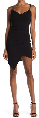 Love, Nickie Lew Spaghetti Strap Asymmetrical Hem Dress