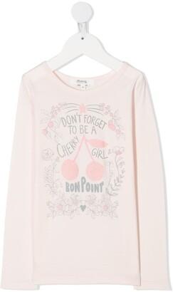 Bonpoint cherry print T-shirt
