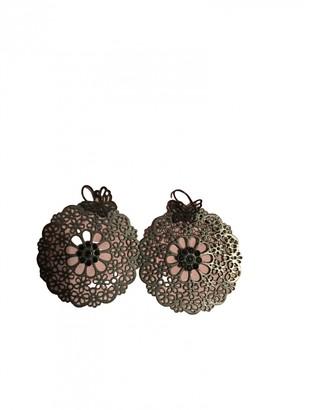 Gas Jeans Neige & Flocon Black Steel Earrings