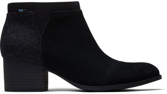 Toms Black Suede Women's Loren Booties