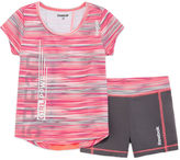 Reebok 2-pc. Short-Sleeve Space Tee and Shorts Set - Preschool Girls 4-6x