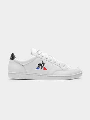 Le Coq Sportif Mens Court Clay Sneakers in White Black