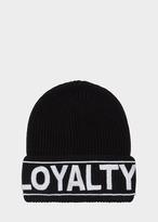 Versace Loyalty Manifesto Knit Hat