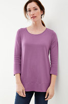 J. Jill Perfect Pima 3/4-Sleeve Scoop-Neck Tee