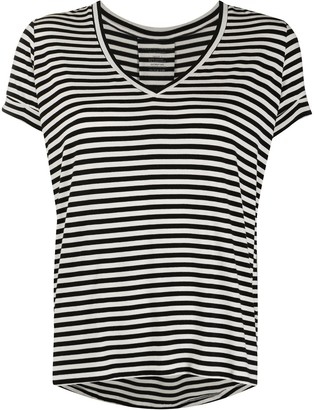 Majestic Filatures striped print T-shirt