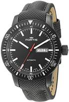 Fortis Men's 647.18.31 LP Analog Display Automatic Self Wind Black Watch