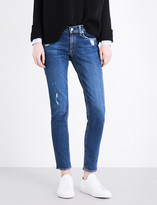 Rag & Bone Distressed skinny mid-rise jeans