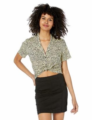 Volcom Junior's Women's Gen Wow Slight Crop Boxy Short Sleeve Shirt