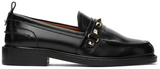 Valentino Black Garavani Rockstud Loafers