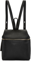 Kara Black Leather Small Backpack