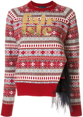 Kolor Fair Isle Panelled Jumper