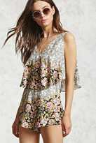 Forever 21 Floral Flounce Romper