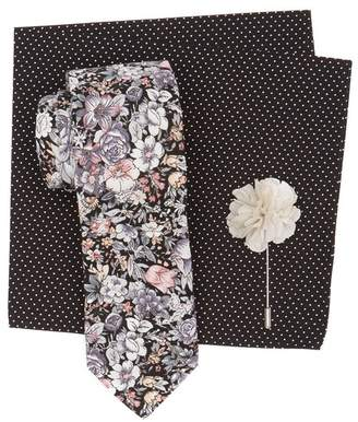 Original Penguin Tibbitt Floral Tie 3-Piece Set