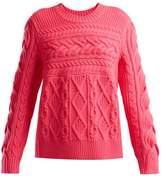 Burberry Aran wool and cashmere-blend sweater
