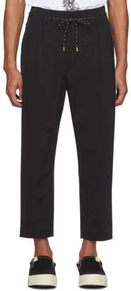 SASQUATCHfabrix. Black Wool Tapered Trousers