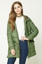 Forever 21 Longline Hooded Puffer Jacket
