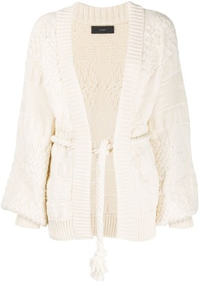 Alanui Textured Knit Belted Cardigan