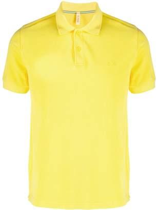 Sun 68 distressed polo shirt