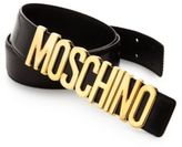 Moschino Lettered Logo Leather Belt