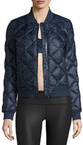 Alo Yoga Idol Camo Quilted Active Bomber Jacket, Navy