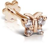 Maria Tash Diamond Butterfly Threaded Stud Earring