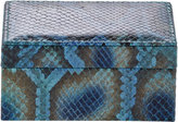 Barneys New York Peacock Python Small Box