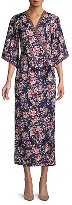 Alexia Admor Floral-Print Kimono Wrap Maxi Dress