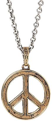 John Varvatos Distressed Peace Sign Necklace