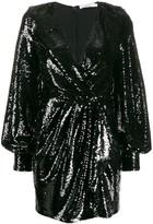 Amen V-neck sequined mini dress