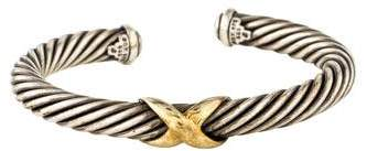 David Yurman Two-Tone Cable X Bracelet