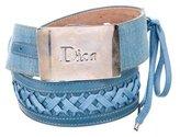 Christian Dior Braided Logo Belt